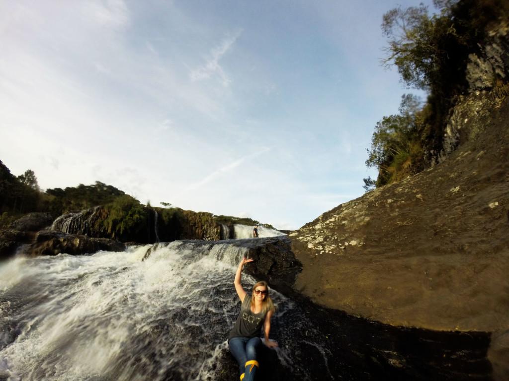 17 - Cachoeira do rio pelotas - viajando em 3.. 2... 1...